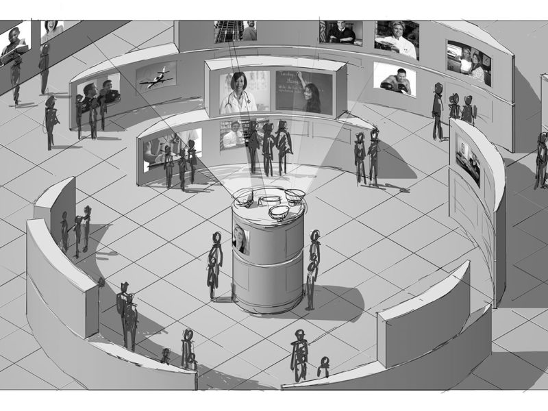 Concept Illustration for Exhibit. Client: Bruce Berry.