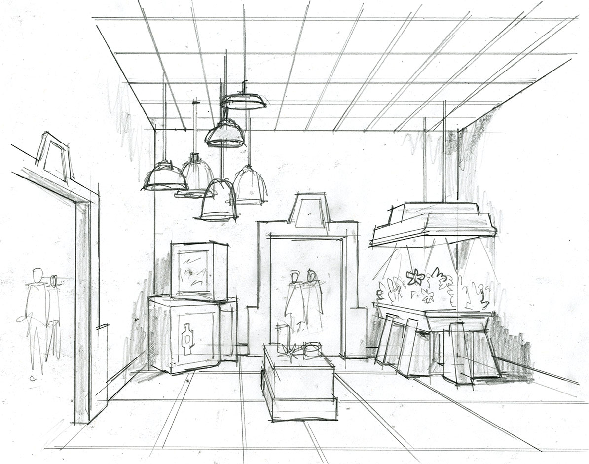 Concept Illustration for Tradeshow hand-drawn