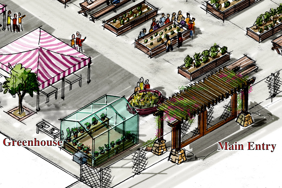 McFadden_Concept Illustration_Marquez School Teaching Garden Detail