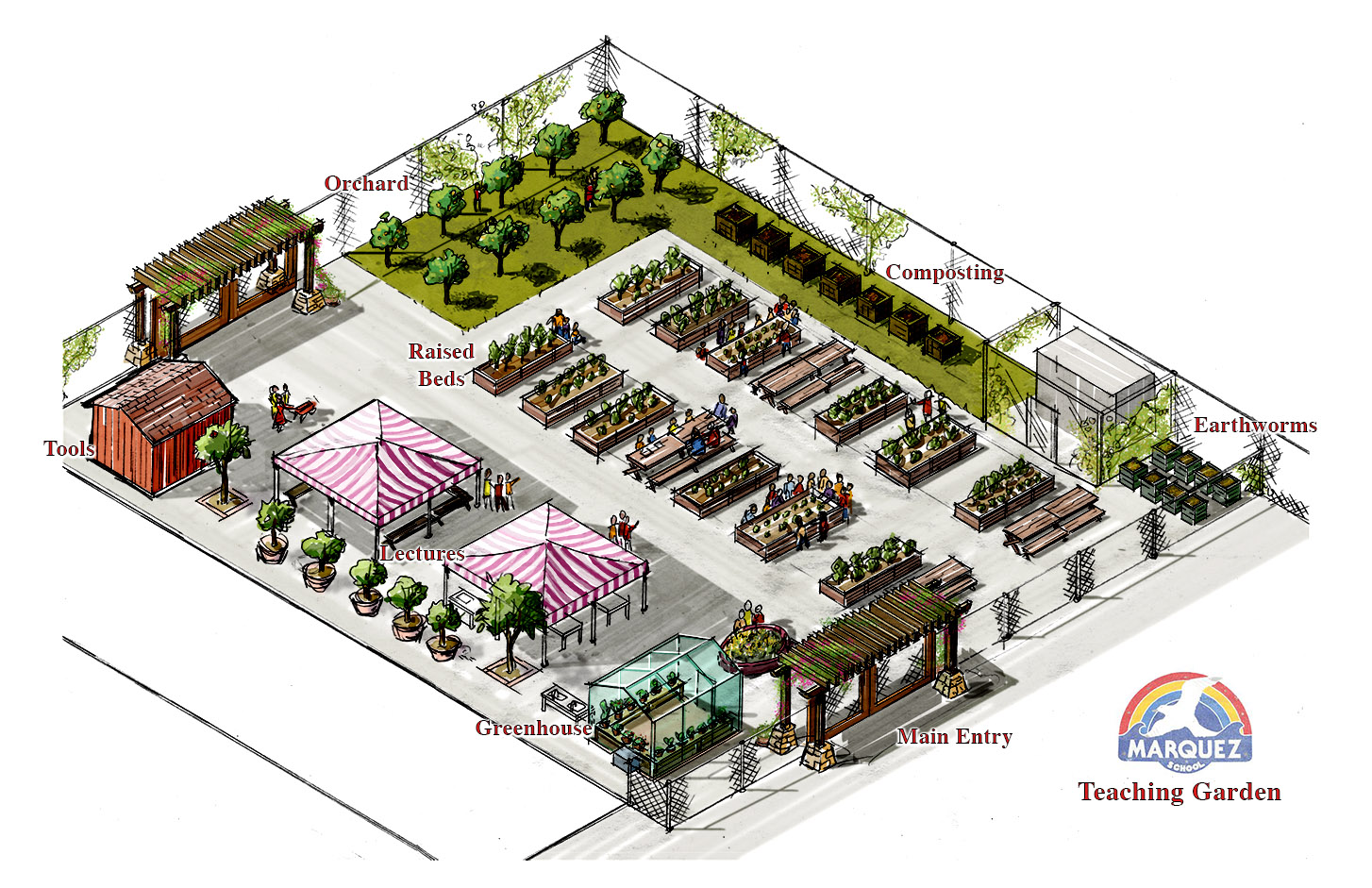 McFadden_Concept Illustration_Marquez School Teaching Garden